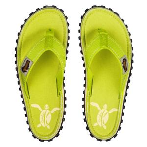 Gumbies Flip Flop Lime Turtle Teenslipper