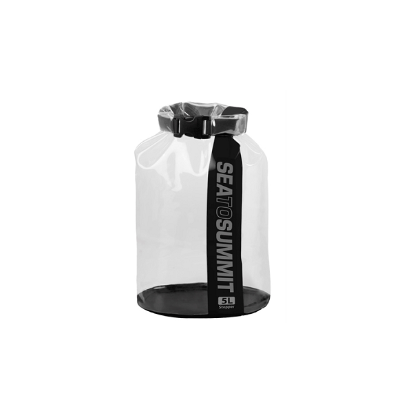 Sea to Summit Stopper Clear Dry Bag 5L Black