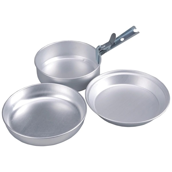 Camping Pannenset Aluminium.Acecamp 2 Persoons Camping Pannenset