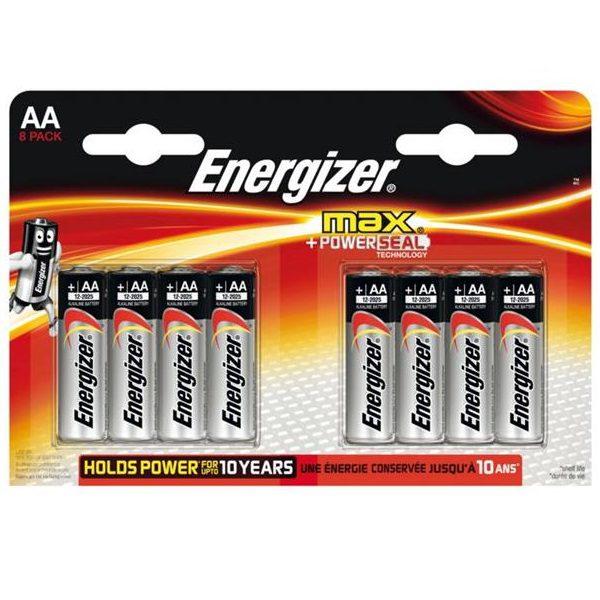 Energizer Max AA Penlite batterij 8 stuks
