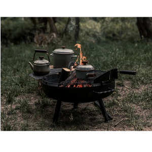 Barebones Cowbow Firepit Grill System Small outdoor