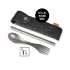 LMF Eco Spork'n Straw Titanium Kit