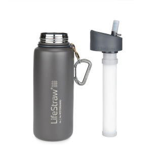 LifeStraw Go Stainless Steel Waterfilter fles Gray