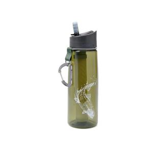 LifeStraw Go Waterfilter fles Trout Fish Dark Green