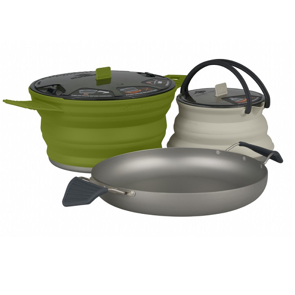 Sea to Summit X-Set 32 Olive 2-pers camping pannenset